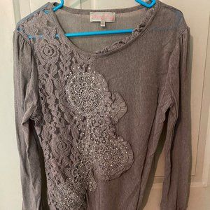 Pretty Angel Embroidered Sparkle Top